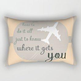 Travel quote- inspirational quote- wanderlust quote- airplane- plane- success Rectangular Pillow