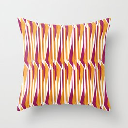 Abstracted Bark_Orange/Pink Throw Pillow