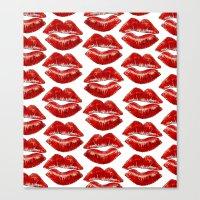 lip Canvas Prints featuring Lip Lines by Regan's World