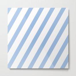 Baby Blue Stripes Metal Print