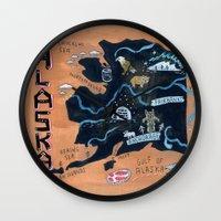 alaska Wall Clocks featuring ALASKA by Christiane Engel