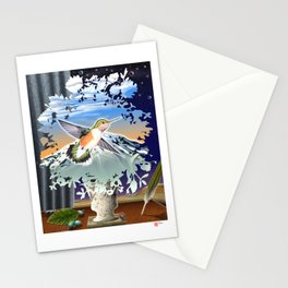 DW-027 Homage To Magritte Stationery Cards