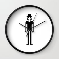 jack white Wall Clocks featuring Jack White  by Band Land