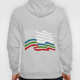 "Sustain and encourage with this ""Blue Green Red American Flag Support. Promote colors of advocacy!  Hoody"