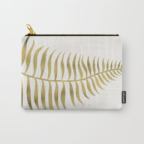 Golden Palm Leaf Carry-All Pouch