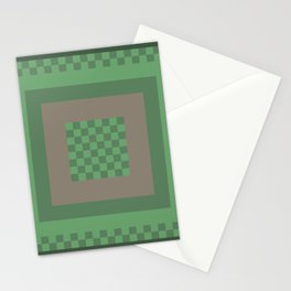 Green All Over Stationery Cards