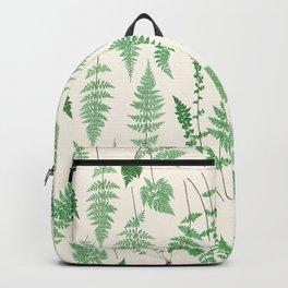 Ferns on Cream I - Botanical Print Backpack