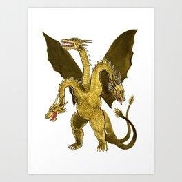 King Ghidorah Art Print