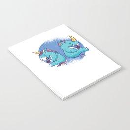 Fantasy Unicorn Dabbing T Shirt Gift Kids Girls Boys Womens Notebook