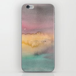 Abstract landscape watecolor 1 iPhone Skin