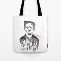 poe Tote Bags featuring Poe by Eda ERKOVAN