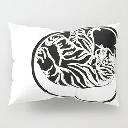 Tiger Tattoo - Black Pillow Sham