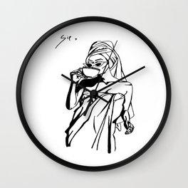 tea sip 1 Wall Clock