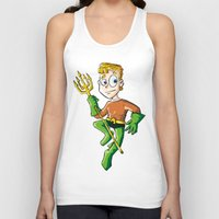 aquaman Tank Tops featuring Aquaman! by neicosta