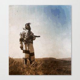 Piegan (Blackfoot) Scout Canvas Print
