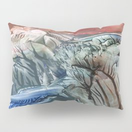 Morphing obscure horizons into shifting emotions Pillow Sham