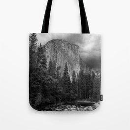 Yosemite National Park, El Capitan, Black and White Photography, Outdoors, Landscape, National Parks Tote Bag