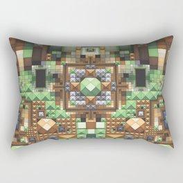 'Abstract pattern 7 (amazonica landscape)' Rectangular Pillow