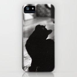 My friends black cat iPhone Case
