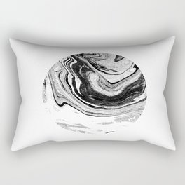 Chi - abstract minimal black and white modern art painting swirl marble pattern waves water Rectangular Pillow