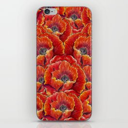 Big red poppies iPhone Skin