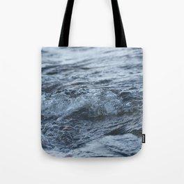 Stormy shore Tote Bag