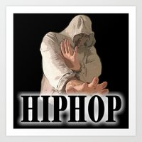 hiphop Art Prints featuring HIPHOP GUY by Robleedesigns