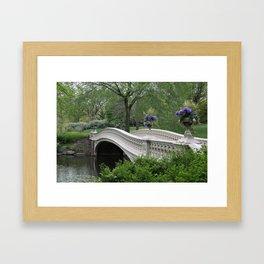Bow Bridge Central Park New York Framed Art Print