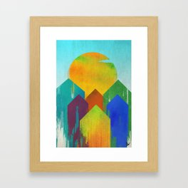 The West Aglow Framed Art Print