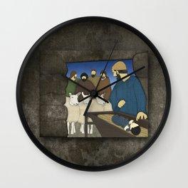 Nativity Luke 2:8-20 Wall Clock