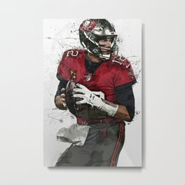 Tom Brady Art Poster Tam-pa Bay Buccaneers Football Hand Made Posters Canvas Print Kids Wall Art Man Cave Gift Home Decor Metal Print