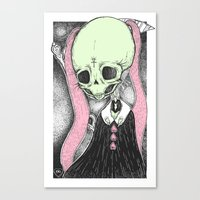 loll3 Canvas Prints featuring Death (Tarot Cards Series 2014) by lOll3