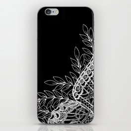 Black and White Butterfly Design iPhone Skin