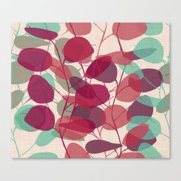 Lunaria purple Canvas Print