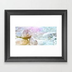 Anchor at the rock Framed Art Print