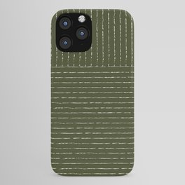 Lines (Olive Green) iPhone Case