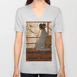 Vintage poster - Madama Butterfly Unisex V-Neck