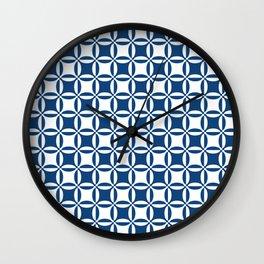 Geometry illusion in blue Wall Clock