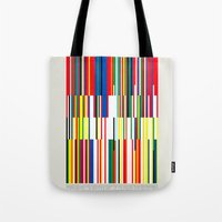 the national Tote Bags featuring National Colors by Tom Davie