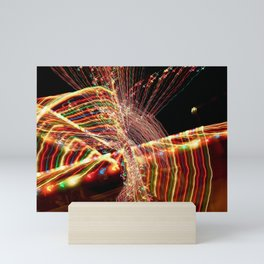 Abstract Xmas Lights Sculpting Mini Art Print