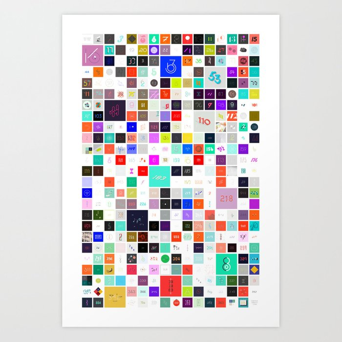 365 Days of Type Art Print