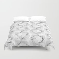 black and white shapes pattern Duvet Cover
