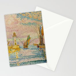 Le phare, Grois - Lighthouse and Sailing Yachts by Paul Signac Stationery Cards
