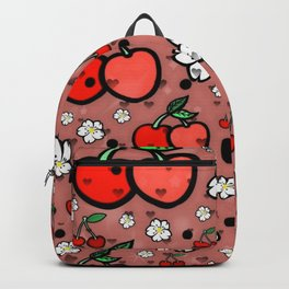 Cherry popart by Nico Bielow Backpack