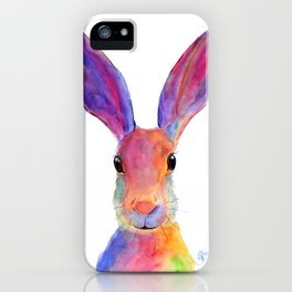 HaRe RaBBiT BuNNY PRiNT ' JeLLY BeaN ' BY SHiRLeY MacARTHuR iPhone Case