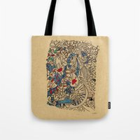 medieval Tote Bags featuring - medieval - by Magdalla Del Fresto