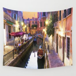 Sunset Alley In Venice Italy Wall Tapestry