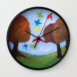 Naive Painting Wall Clock