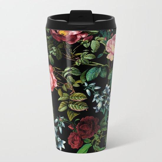 Floral Jungle Metal Travel Mug