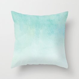 Watercolor Mint Throw Pillow